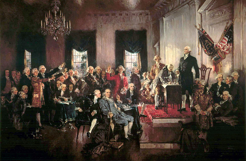 Scene at the signing of the Constitution of the United States, Oil on Canvas, Howard Chandler Christy