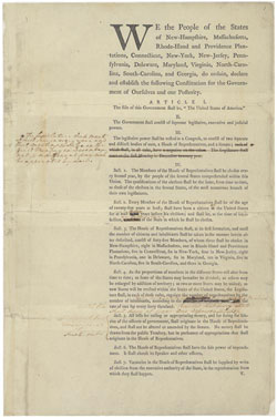 George Washington's Annotated First Draft of the United States (US) Constitution