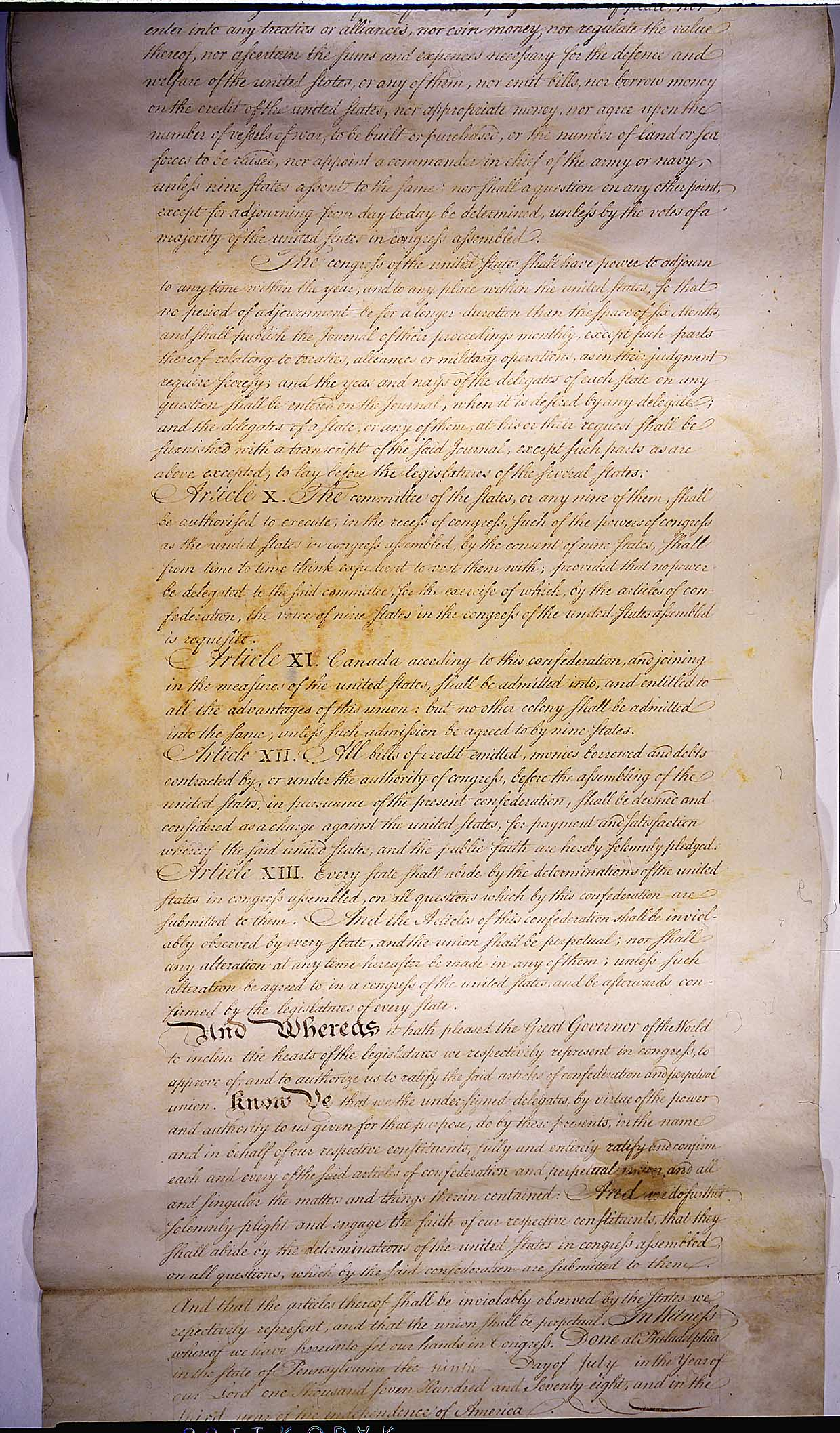 The Articles of the Confederation