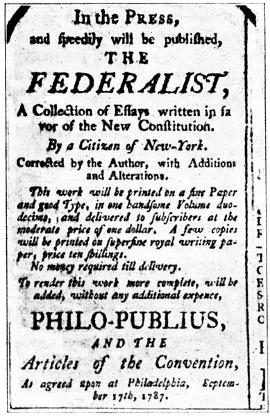the federalist papers summary The federalist papers were a vehicle to promote the ideals of the constitution, while garnering the support for its ratification throughout the american colonies only twelve years since declaring their independence from england in 1776, the newly-autonomous american colonies, renaming themselves the united states of.