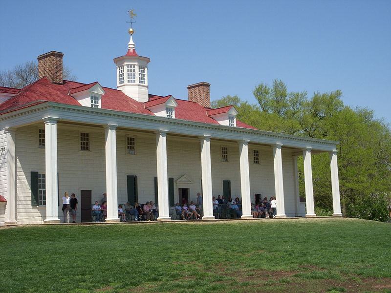 Homes of the founding fathers for George washington plantation