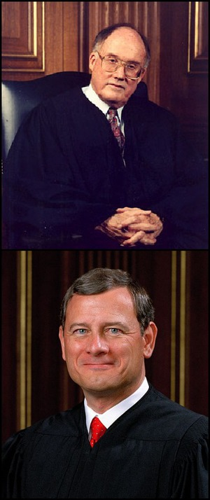 Chief Justices Rehnquist and Roberts