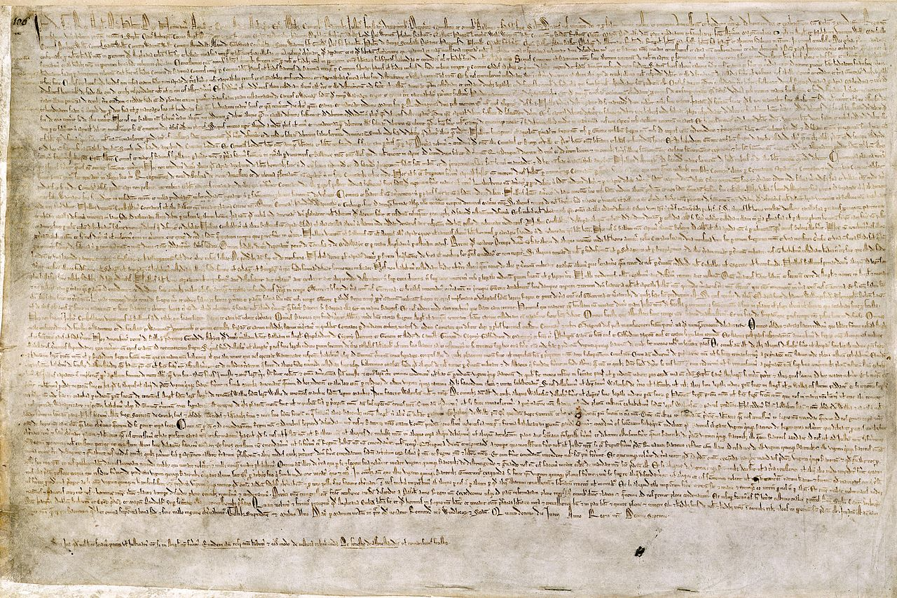the magna carta and the constitution In 1215, a group of english nobles, demanded certain rights and forced king john of england to sign the magna carta and give up some of his power.